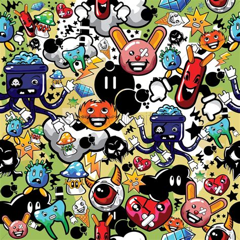 Images Of Characters Various Characters Background Vector Image