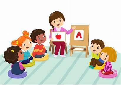 Classroom Montessori Clip Sitting Preschool Teacher Children
