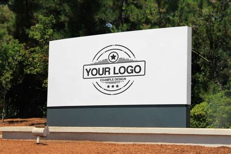 Company Sign Template by Company Logo Outdoor Signage Online Mockup Mediamodifier