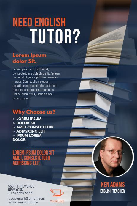 copy  english tuition flyer template postermywall