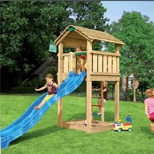 cabane en bois avec toboggan et bac a sable jun achat With maisonnette en bois avec bac a sable