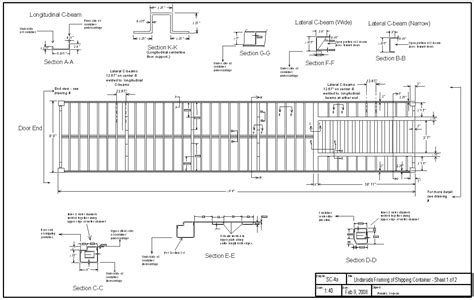underside framing of shipping container sheet 1 2 all