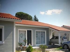 maison ossature bois a biscarrosse pyrenees bois With maison en bois peinte
