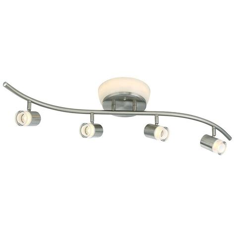 ceiling fan with track lighting filament design negron 3 light brushed nickel track