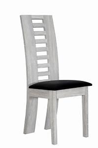 Salle A Manger Chene Blanchi : chaise sejour lathi chene blanchi noir ~ Teatrodelosmanantiales.com Idées de Décoration