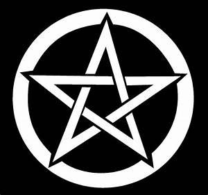 Pentacle Decal Pentagram wiccan pagan car window vinyl