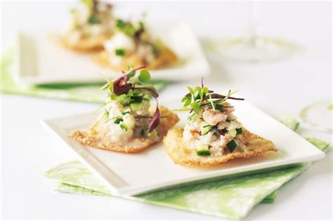freezable canapes crab and cucumber canapes recipe taste com au