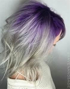 Gray purple ombre dyed hair | Make me pretty | Pinterest ...