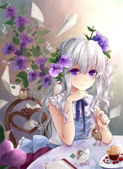 Cute Purple Anime Girl