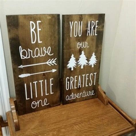baby shower gift  brave greatest adventure wood sign
