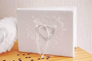 Livre D Or Mariage Champetre : livre d 39 or mariage blanc coeur strass broderie ~ Dode.kayakingforconservation.com Idées de Décoration