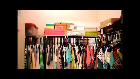 walk in college apartment closet tour organization