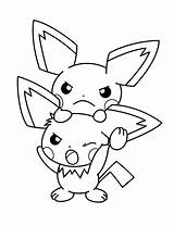 Coloring Pokemon Pages Pichu Adult Pikachu Sheets Advanced Printable Cartoon Picgifs sketch template