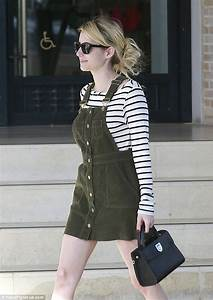 Emma Roberts is effortlessly stylish in stripes and a ...