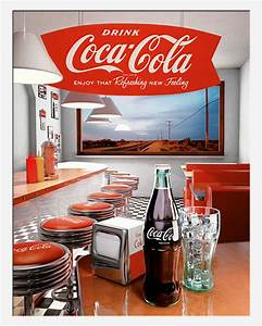 Coca Cola Möbel : coca cola diner plakatkunst werbung mini poster plakat druck ebay ~ Indierocktalk.com Haus und Dekorationen