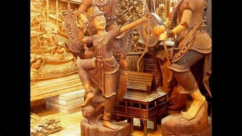 Buy Thai Wood Carving Wall Art Panel Asian Home Decor Online: Teak Wood Carving