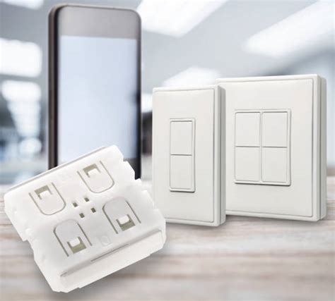 bluetooth light switch enocean adds bluetooth le wireless light switches