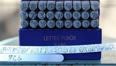 mm monogram font metal uppercase letter alphabet stamp set sgpun