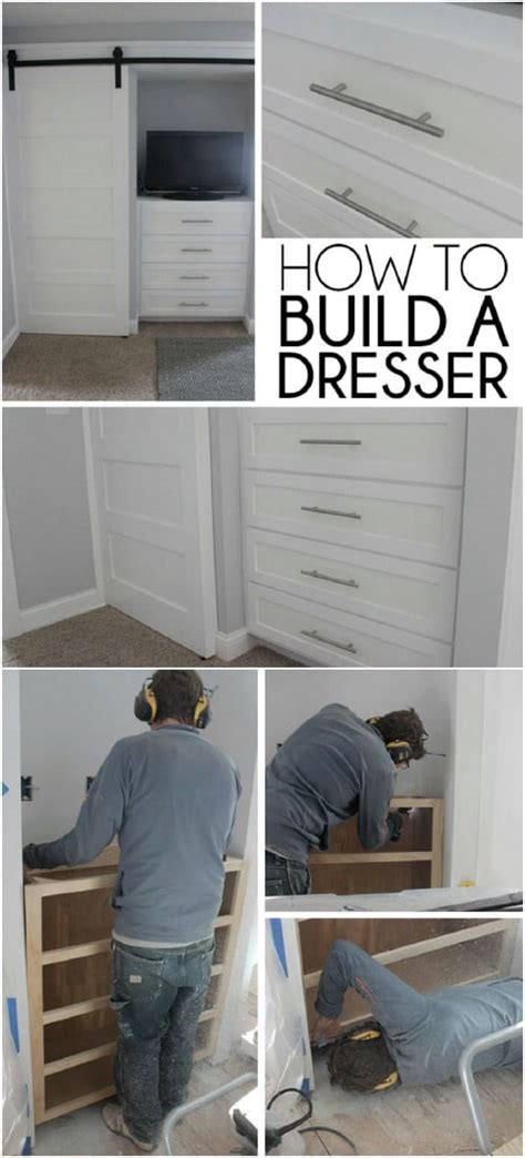 How To Build Closet Drawers by 7 Beautifully Functional Diy Built In Dressers To Utilize