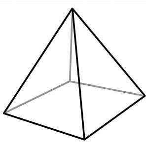 Free coloring pages of square based pyramid