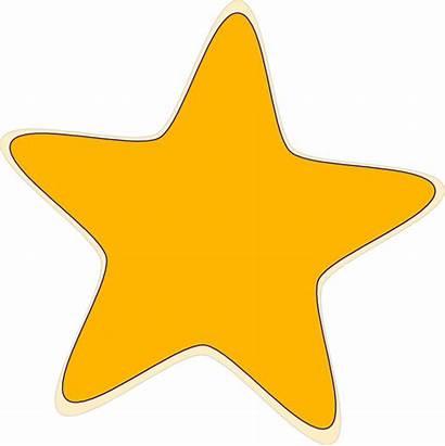 Clip Star Gold Clipart Outline Stars Bintang