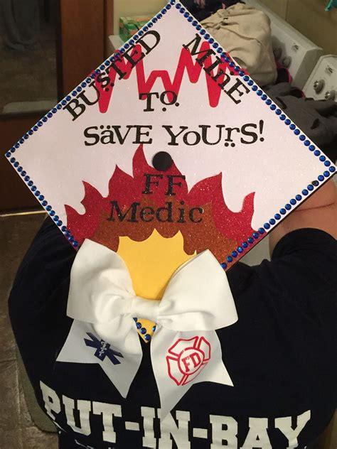 paramedic firefighter graduation cap nursing ems fire