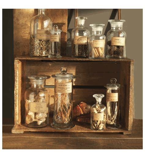 botany set   apothecary jars  twos company