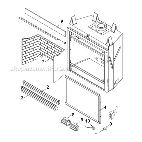 gas fireplace parts majestic 500dvm parts list and diagram series dvm