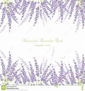 Lavender Card Border stock vector. Illustration of ...
