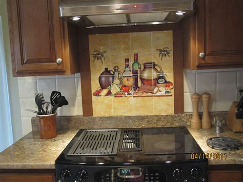 Decorative Tile Backsplash  Kitchen Tile Ideas  Cucina