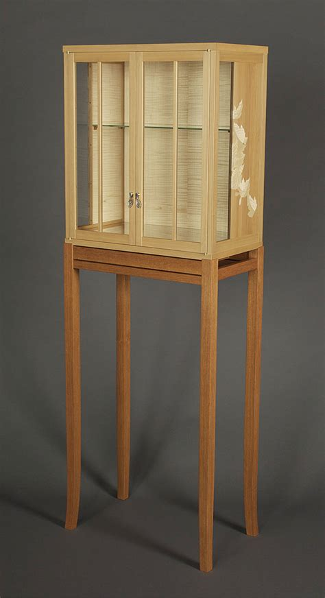 boxwood  sycamore cabinet  stand finewoodworking