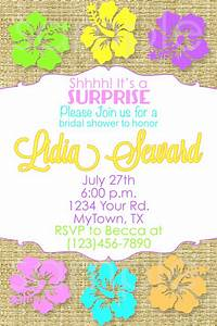 hawaiian bridal shower invitation hawaiian birthday With wedding shower invitations hawaiian theme