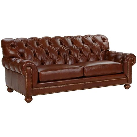ethan allen leather sofa used chadwick leather sofa saddle ethan allen us