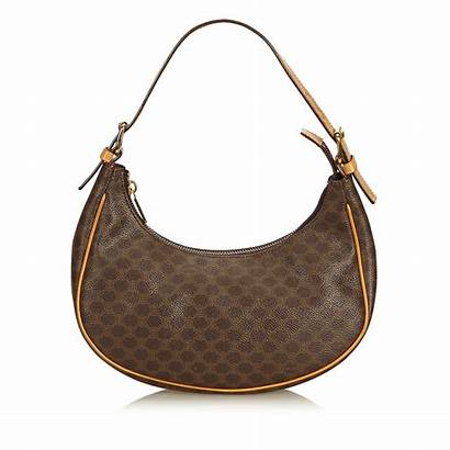 Bag Shoulder Macadam Handbags Celine Leather Brown
