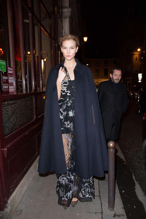 Karlie Kloss Arriving The Grand Colbert Restaurant