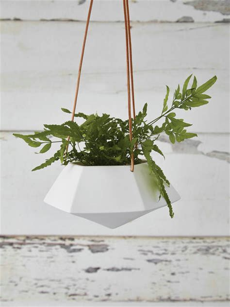 Geometric Hanging Planter   Medium   Nordic House