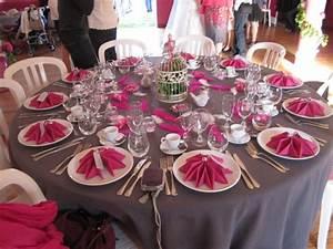Deco Vieux Rose : le mariage cr atif de katy en gris et fuchsia avec des oiseaux des fanions et un ~ Teatrodelosmanantiales.com Idées de Décoration