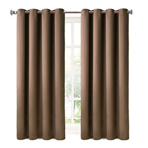 blackout curtains 2 panels thermal insulated grommets