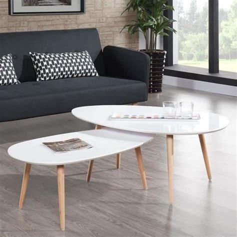 Table Basse Design Scandinave Blanche  Pristina Achat