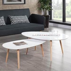Table Basse Scandinave Blanche : table basse design scandinave blanche pristina achat vente table basse pas cher couleur et ~ Teatrodelosmanantiales.com Idées de Décoration