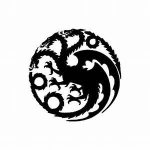 House Targaryen Dragon Logo, Game of Thrones - Die Cut ...