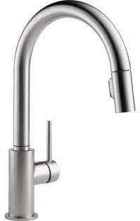 delta trinsic arctic 1 handle pull kitchen faucet modern kitchen faucets other metro