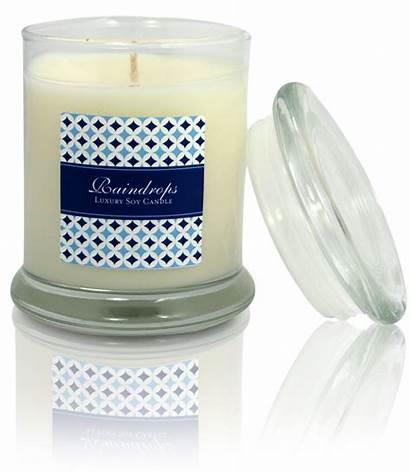 Candle Soy Onlinelabels Jar Labels Raindrops Glass
