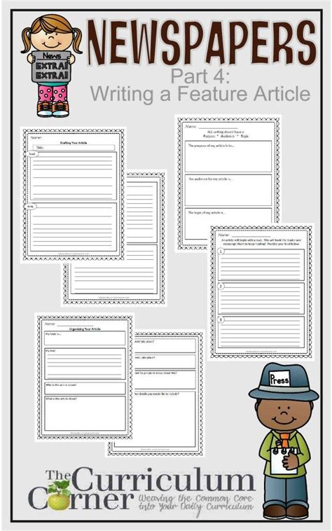 basic newspaper template newspapers part 4 writing a feature article curriculum