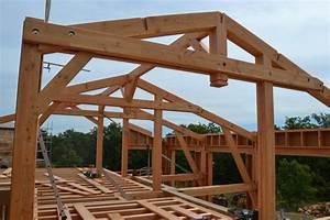 Charpente Traditionnelle Bois En Kit : construction d 39 une maison ossature bois bioclimatique ~ Premium-room.com Idées de Décoration