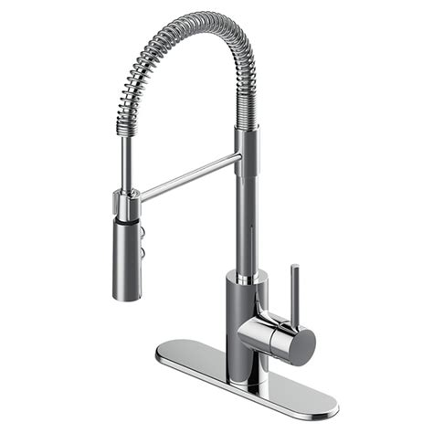 Singlehandle Zen Kitchen Faucet  Brasszinc  Chrome Rona