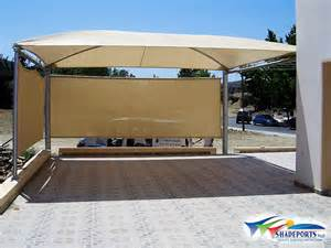 Roll Up Patio Shades by Shadeports Plus Carports Image Gallery High Quality Car