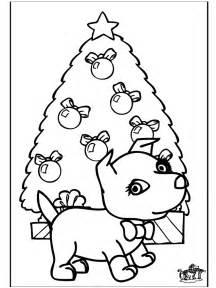 christmas dog  coloring pages christmas