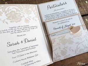 lace pocket fold wedding invitations misiu papier With pocket wedding invitations online australia