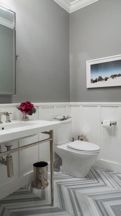chevron pattern tiles transitional bathroom hirshson